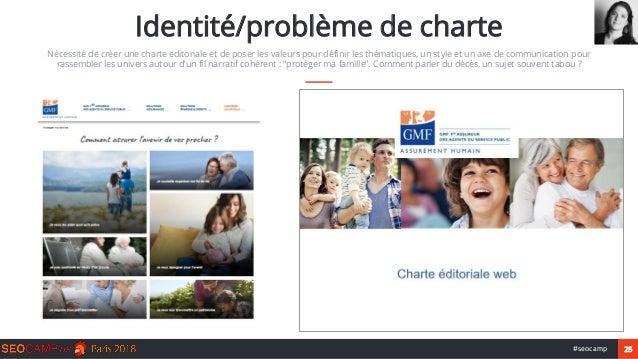 25#seocamp Identité/problème de charte Nécessité de créer une charte editoriale et de poser les valeurs pour définir les t...