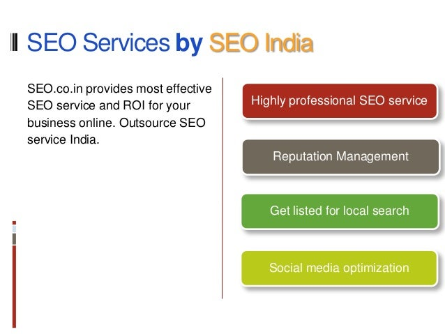 Grab the top SERP spots - SEO services in India by SEO.co.in - 웹