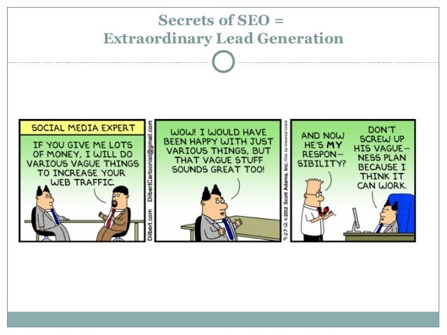 Secrets of SEO =Extraordinary Lead Generation