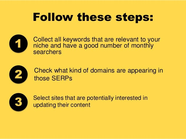 Follow these steps: Collect all keywords that are relevant to your niche and have a good number of monthly searchers Check...