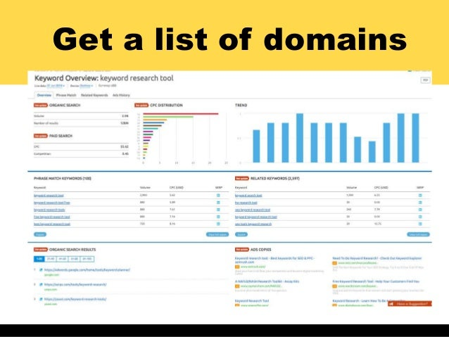 Get a list of domains