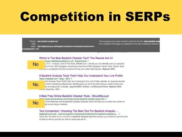 Competition in SERPs No No No