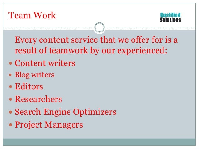 Seo writing service offer