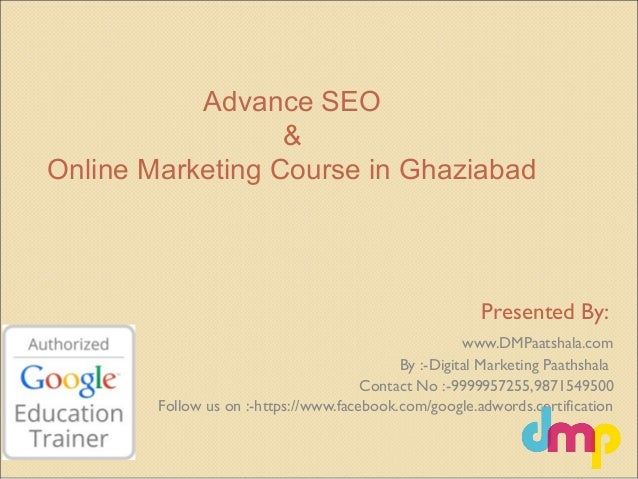 Best Advance Seo course in ghaziabad | Seo trick & trips |seo interns…