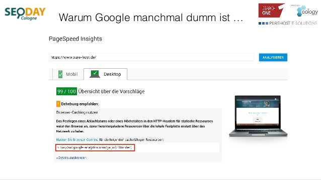 Warum Google manchmal dumm ist …