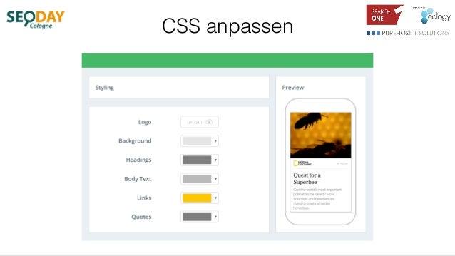 CSS anpassen