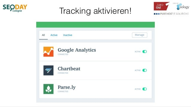 Tracking aktivieren!