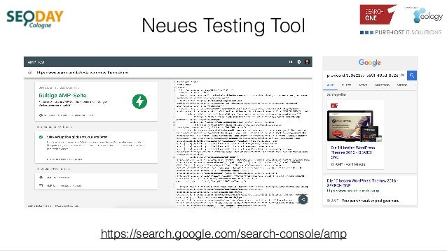 Neues Testing Tool https://search.google.com/search-console/amp