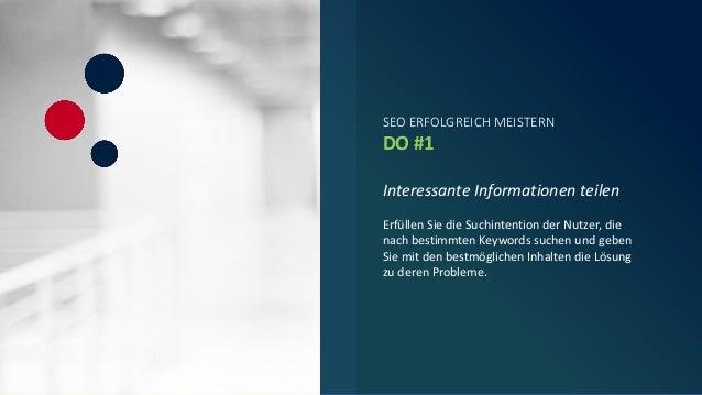 SEO erfolgreich meistern. Wir geben die wichtigsten DO's & DONT's Slide 3