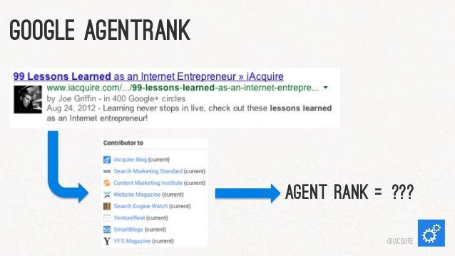 Google AgentRank  Agent Rank =??? @iacquire