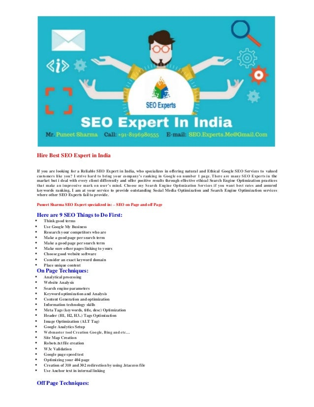 SEO Expert in India - Puneet Sharma