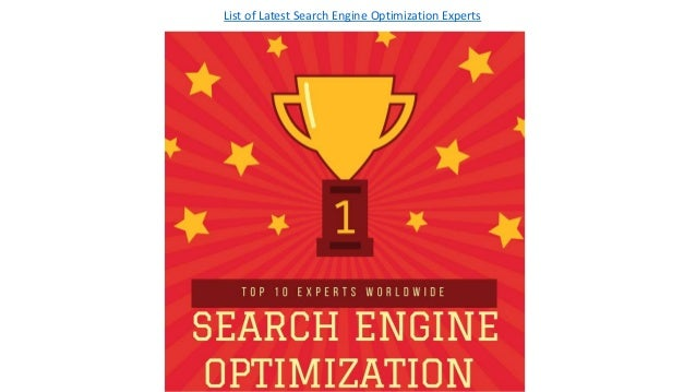 List Of Latest Top 10 Search Engine Optimization Experts