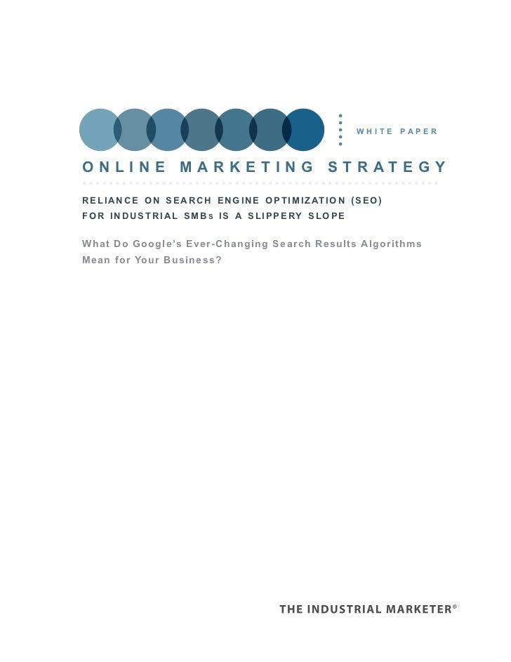 white     paperOnline marketing strategyr e l i a n c e o n s e a r c h e n g i n e o p t i m i z at i o n ( s e o )f o r ...