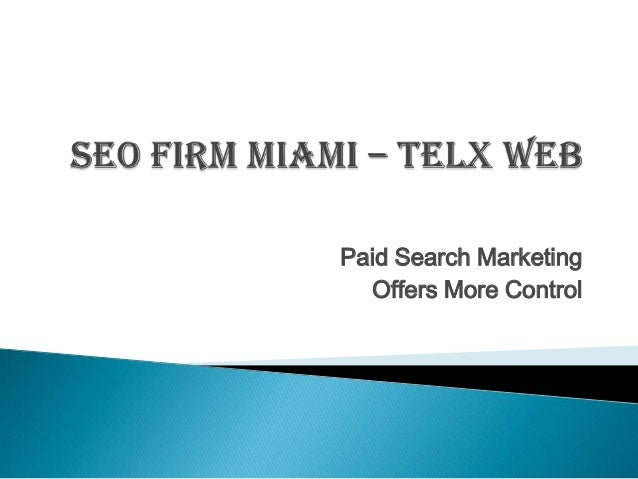 Paid Search Marketing Offers More Control