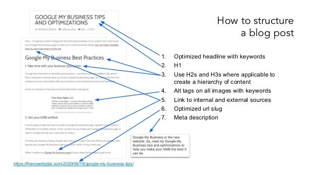 How to Structure Blog Posts for Search Engines