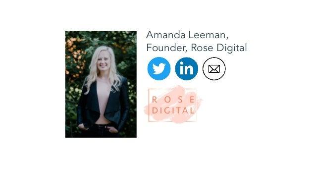 Amanda Leeman, Founder, Rose Digital