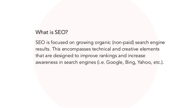 How do search engines determine ranking?