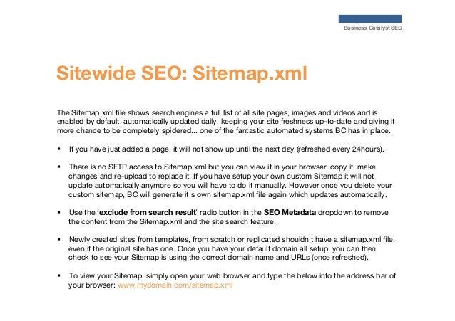 seo for business catalyst websites partner orientation webinar