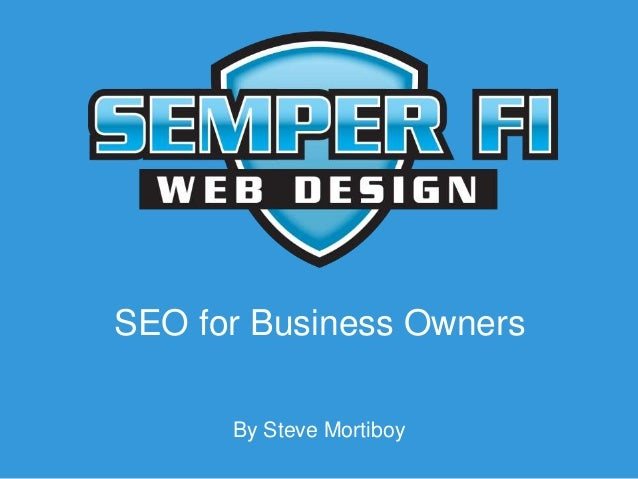 SEO for Business Owners By Steve Mortiboy