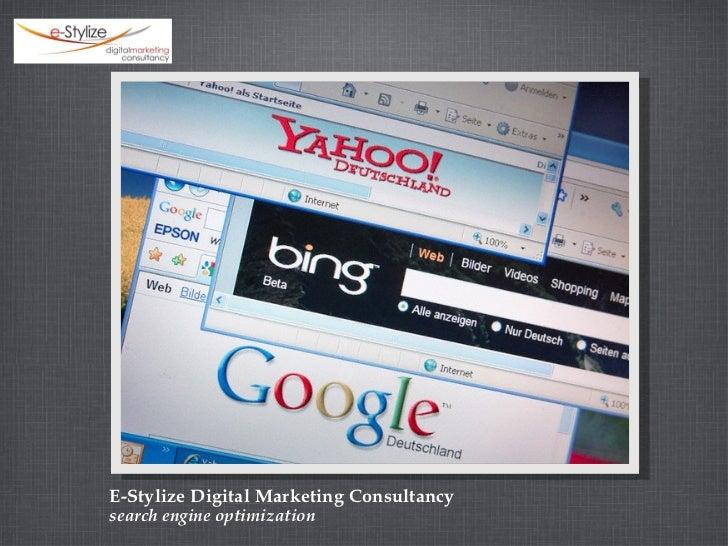 E-Stylize Digital Marketing Consultancy <ul><li>search engine optimization </li></ul>