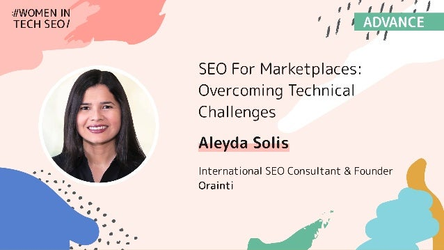 #seomarketplaces at #WTSFest by @aleyda from @orainti