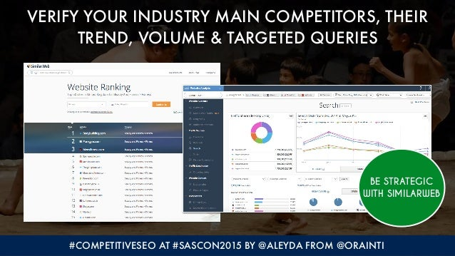 #COMPETITIVESEO AT #SASCON2015 BY @ALEYDA FROM @ORAINTI VERIFY YOUR INDUSTRY MAIN COMPETITORS, THEIR TREND, VOLUME & TARGE...
