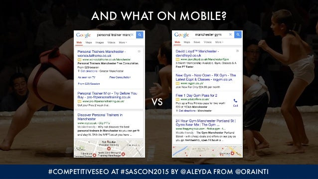 #COMPETITIVESEO AT #SASCON2015 BY @ALEYDA FROM @ORAINTI AND WHAT ON MOBILE? VS