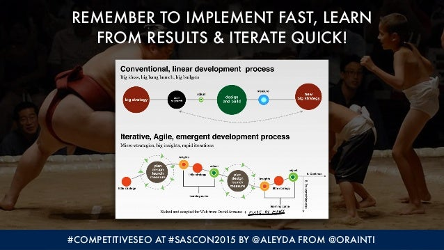 #COMPETITIVESEO AT #SASCON2015 BY @ALEYDA FROM @ORAINTI REMEMBER TO IMPLEMENT FAST, LEARN 
