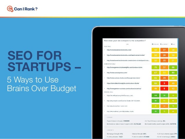 SEO FOR STARTUPS – 5 Ways to Use Brains Over Budget