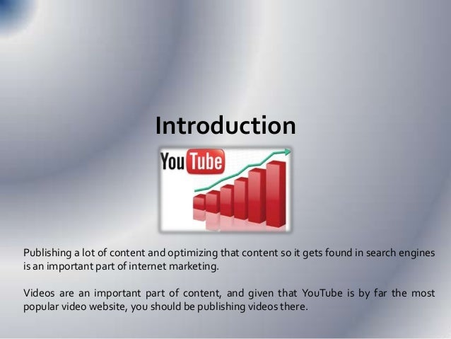 SEO for Youtube (Optimizing Your Content  for YouTube) Slide 2