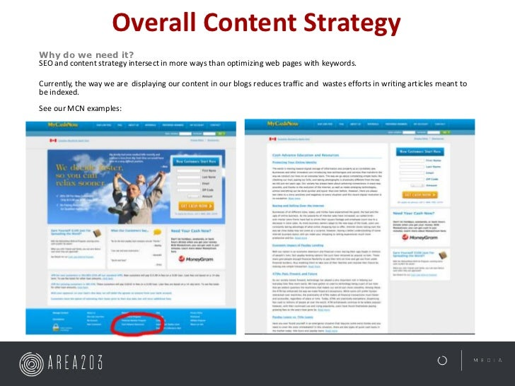 Overall Content StrategyWhy do we need it?SEO and content strategy intersect in more ways than optimizing web pages with k...
