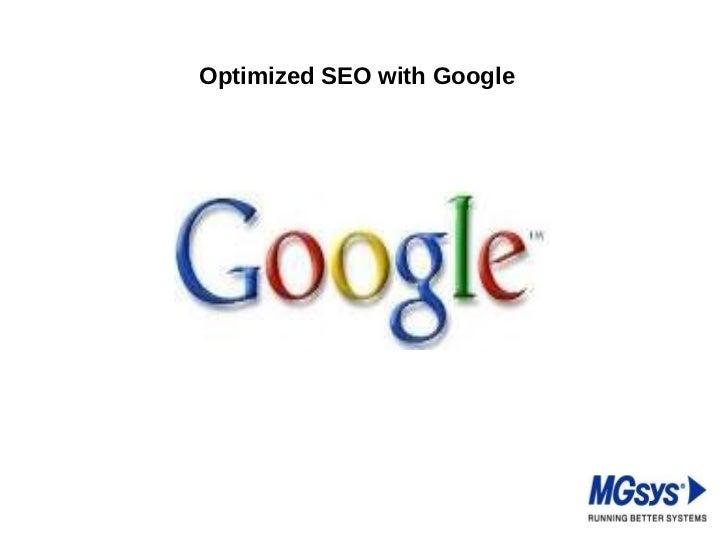 Optimized SEO with Google