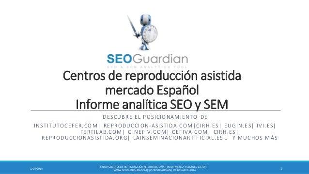 Centros de reproducción asistida mercado Español Informe analítica SEO y SEM DESCUBRE EL POSICIONAMIENTO DE INSTITUTOCEFER...