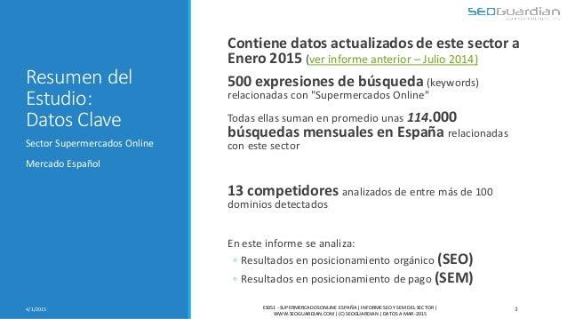 Resumen del Estudio: Datos Clave Contiene datos actualizados de este sector a Enero 2015 (ver informe anterior – Julio 201...