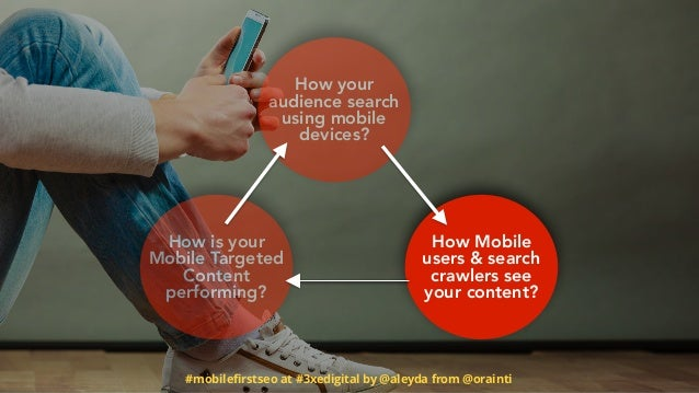 #mobilefirstseo at #3xedigital by @aleyda from @orainti How is your Mobile Targeted Content performing? How Mobile users & ...