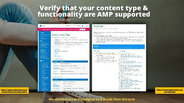 #mobilefirstseo at #3xedigital by @aleyda from @orainti Verify that your content type & 
