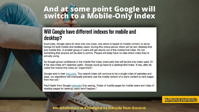 And at some point Google will 