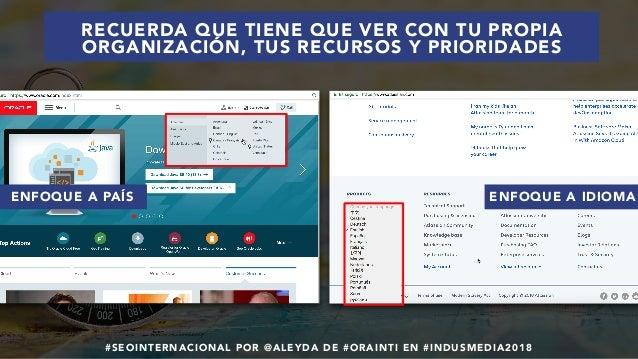 #SEOINTERNACIONAL POR @ALEYDA DE #ORAINTI EN #INDUSMEDIA2018 ENFOQUE A PAÍS ENFOQUE A IDIOMA RECUERDA QUE TIENE QUE VER CO...