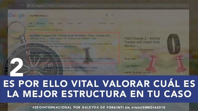 #SEOINTERNACIONAL POR @ALEYDA DE #ORAINTI EN #INDUSMEDIA2018 ES POR ELLO VITAL VALORAR CUÁL ES LA MEJOR ESTRUCTURA EN TU C...