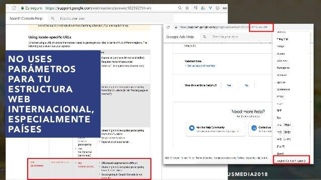 #SEOINTERNACIONAL POR @ALEYDA DE #ORAINTI EN #INDUSMEDIA2018 NO USES PARÁMETROS PARA TU ESTRUCTURA WEB INTERNACIONAL, ESPE...