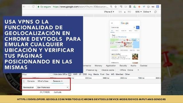#SEOINTERNACIONAL POR @ALEYDA DE #ORAINTI EN #INDUSMEDIA2018 USA VPNS O LA FUNCIONALIDAD DE GEOLOCALIZACIÓN EN CHROME DEVT...