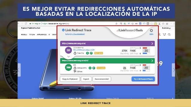 #SEOINTERNACIONAL POR @ALEYDA DE #ORAINTI EN #INDUSMEDIA2018 ES MEJOR EVITAR REDIRECCIONES AUTOMÁTICAS BASADAS EN LA LOCAL...