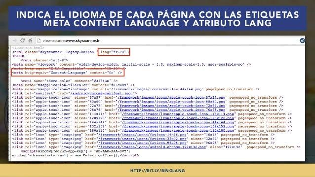 #SEOINTERNACIONAL POR @ALEYDA DE #ORAINTI EN #INDUSMEDIA2018 INDICA EL IDIOMA DE CADA PÁGINA CON LAS ETIQUETAS META CONTEN...