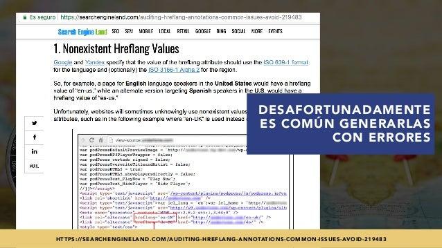 #SEOINTERNACIONAL POR @ALEYDA DE #ORAINTI EN #INDUSMEDIA2018 DESAFORTUNADAMENTE ES COMÚN GENERARLAS CON ERRORES HTTPS://SE...