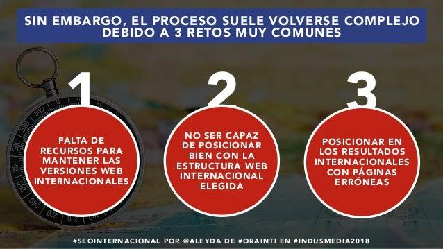 #SEOINTERNACIONAL POR @ALEYDA DE #ORAINTI EN #INDUSMEDIA2018 SIN EMBARGO, EL PROCESO SUELE VOLVERSE COMPLEJO DEBIDO A 3 RE...