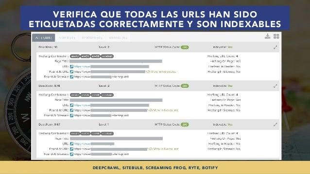 #SEOINTERNACIONAL POR @ALEYDA DE #ORAINTI EN #INDUSMEDIA2018 VERIFICA QUE TODAS LAS URLS HAN SIDO ETIQUETADAS CORRECTAMENT...