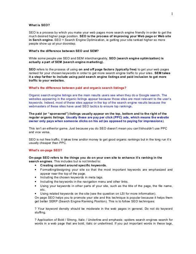 Pdf answers interview seo questions
