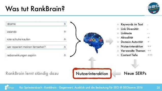 Kai Spriestersbach - RankBrain - Gegenwart, Ausblick und die Bedeutung für SEO @ SEOkomm 2016 Was tut RankBrain? 25 obama ...