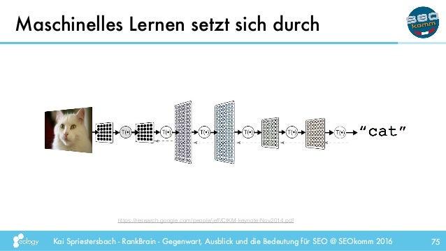 Kai Spriestersbach - RankBrain - Gegenwart, Ausblick und die Bedeutung für SEO @ SEOkomm 2016 Maschinelles Lernen setzt si...