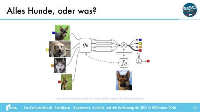 Kai Spriestersbach - RankBrain - Gegenwart, Ausblick und die Bedeutung für SEO @ SEOkomm 2016 Alles Hunde, oder was? 76 ht...